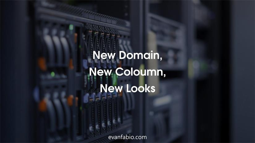 New Domain, New Coloumn, NewLooks